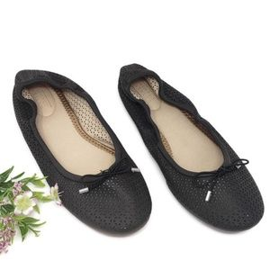 )Simply Styled Women's Letti Black Ballet Flat